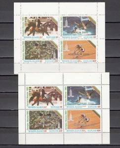 Bernera Is. Scotland. 2000 issue. Moscow Olympics with Scout o/print. 2 sheets.