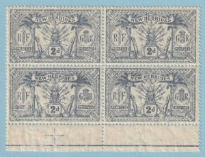BRITISH NEW HEBRIDES 19  MINT NEVER HINGED OG ** BLOCK OF 4 - EXTRA FINE! - V614