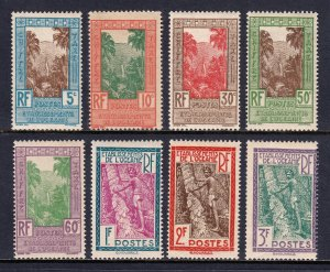 French Polynesia - Scott #J10-J17 - MH - Typical toning for this set - SCV $15