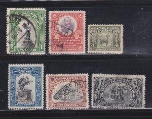 Peru 168-172, 174 U Various