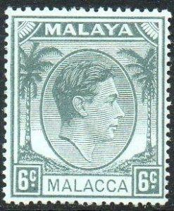 Malacca 1949 6c grey MH