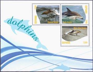 Guyana. 2012. Fauna dolphins. MNH.