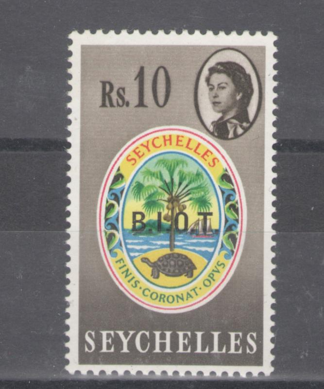 British Indian Ocean Territory 1968 Overprint 10 Rs Scott # 15 MH