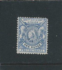 BRITISH EAST AFRICA 1896-1901 1r PALE DULL BLUE MM SG 75 CAT £85