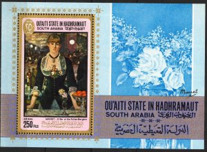 {AH014} ADEN / Hadhramaut 1967 Art Paintings Manet S/S MNH** Mi.Bl.12 15,00 Eur