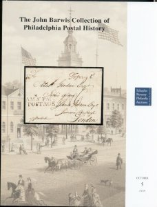 BARWIS COLLECTION OF PHILADELPHIA POSTAL HISTORY CATALOG, 2019 RUMSEY AUCTION