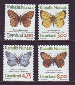 Greenland Sc 315-8 1997 Butterflies stamp set mint NH