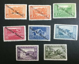 Albania Sc# 178-185 Complete Set Mint Hinged MH CV=$19.10