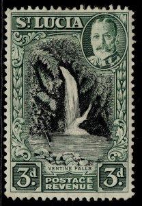 ST. LUCIA GVI SG118, 3d black & dull green, M MINT.