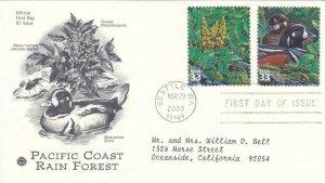2000, Pacific Coast Rain Forest,  PCS, FDC (E7773)