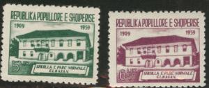 Albania Shqiperise Scott 559-560 School set MH* 1960