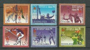 YUGOSLAVIA  1996 Summer Olympics Atlanta set MNH
