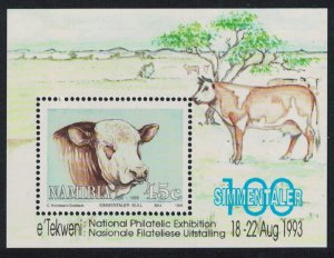 Namibia Centenary of Simmentalar Cattle in Namibia MS SG#MS614a MI#Block 18