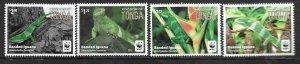 2016    TONGA  -  SG.  1804 / 1807  -  BANDED IGUANA  -  WWF  -  MNH