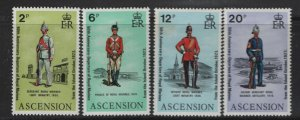 ASCENSION  173-176 MNH  ROYAL MARINES SET 1973