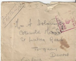 Great Britain Fieldpost Office Military Mail NOV 6, 1915 Cover & Letter Censored