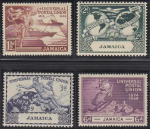 Jamaica 142-145 MNH (1949)