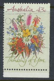SG 1231  SC# 1164b  Used bottom right margin imperf Wildflowers