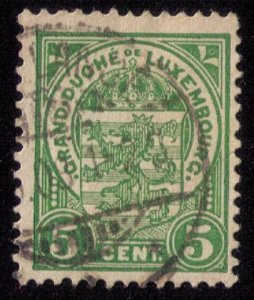 Luxembourg Mi 88 Used Coat Of Arms F-VF 1907