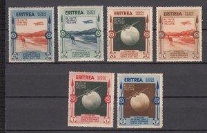 J27902 1934 italy eritrea set mh #c1-6 airmails