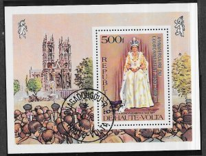 Burkina Faso #480 25th Queen Elizabet Coronation S/S (U)* CV $4.25