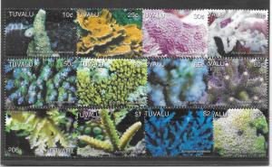 TUVALU MNH SET SC#995-1006 COROALS SCV$19.00