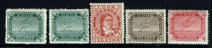COOK ISLANDS 1913 to 1919 A Part Set to 1/-. SG 39 to SG 46 MINT
