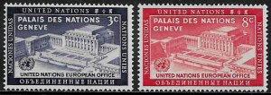 United Nations #27-8 Mint Set - United Nations Day