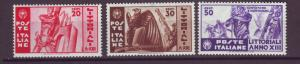 J21534 Jlstamps 1935 italy set mnh #342-4 designs views