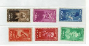 INDIA 1952-Set of 6-Saint & Poet-mnh