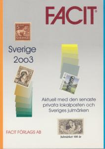 Facit, Sweden 2003 Stamp catalog, includes Locals and Christmas Issues, NEW