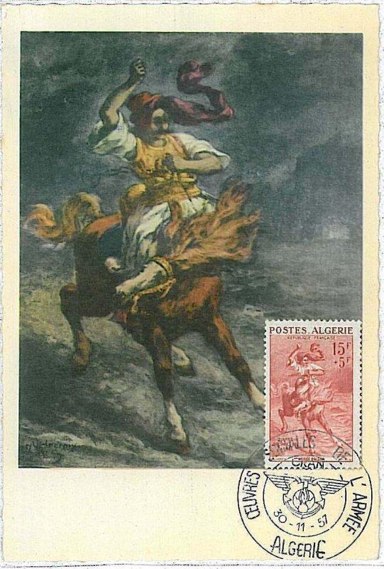 38742  - ALGERIA  - POSTAL HISTORY -  MAXIMUM CARD -  ART 1957