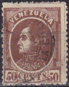 Venezuela #72 F-VF Used CV $40.00  (Z6106)