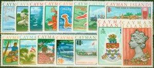 Cayman Islands 1970 Decimal set of 15 SG273-287 V.F MNH