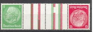 1933 Se-Tenant, Hindenburg, Michel KZ 17, MNH, no faults, Watermak. Honeycomb