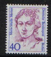 Germany  Berlin 1987  MNH  Famous Women 40 Pf  Merian  #
