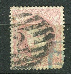 SPAIN; 1870 classic Ceres issue fine used 10m value unusual POSTMARK