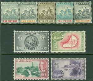 BARBADOS : 1892-1905. SG #108, 10, 13, 14, 35 VF, MOGHR. Also #279-82 VF MOGLH