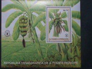 ST.THOMAS-1981 SC#643 WORLD FOOD DAY- BANANA TREES MNH S/S SHEET-VERY FINE