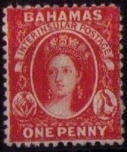 Bahamas Sc 11b MLH (1863) Queen Victoria Rose lake CV $160.00