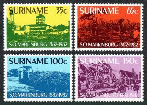 Surinam 606-609, MNH. Marienburg Sugar Co. cent. 1982