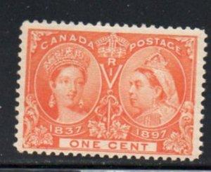 Canada Sc 51 1897 1 c orange Victoria Jubilee stamp mint NH