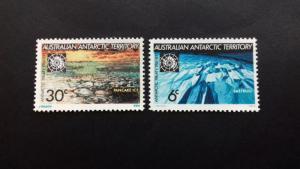 Australian Antarctic1971 The 10th Anniversary of the Antarctic Treaty  Mint