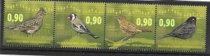 2015    BOSNIA  -  BIRDS  -  STRIP OF 4   -   UMM