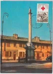59130  -  ITALY - POSTAL HISTORY: MAXIMUM CARD 1959  -  MILITARY Red Cross