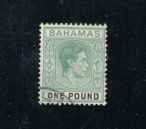 BAHAMAS SG157b VF-KGV1 £1 FROM THE HILLSON COLLECTION CAT VALUE £120 or $149
