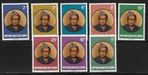 Zaire 883-90 President Mobutu set MNH