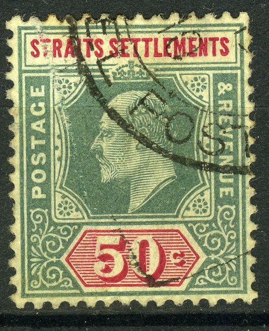 Straits Settlements, 1904 K.E. VII. 50 Cents, S.G. # 135 a VF ++ used