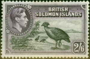 Solomon Islands 1939 2s6d Black & Violet SG70 Good Mtd Mint