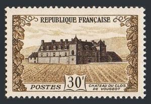 France 670, MNH. Chateau de Clos, Vougeot, 1951